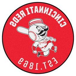 "1967 Cincinnati Reds Retro Collection 27"" Roundel Area Rug F"