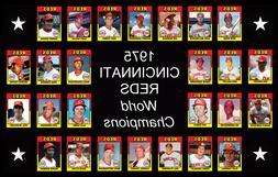 1975 CINCINNATI REDS World Series POSTER Memorabilia Decor F