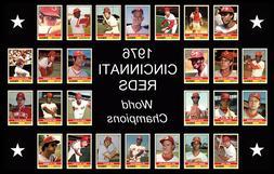 1976 CINCINNATI REDS Baseball Card POSTER Wall Art Man Cave