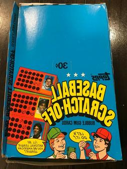 1981 Topps Scratch Off Box. 36 Sealed Packs. Brand New Scrat
