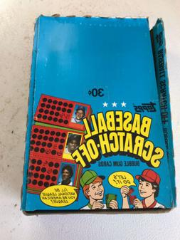 1981 Topps Scratch Off Box. 36 Sealed Packs. Scratch-Off Sch