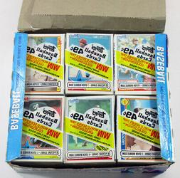 1983 Topps Cello Box 24 Packs with Stars Showing