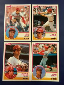 1983 Topps Traded CINCINNATI REDS Complete Set 4 Cards GALE,