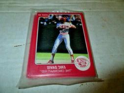 "1988 Star Company Eric Davis 12 Card ""The Cincinnati Kid"" Se"