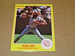 1988 Star Company Eric Davis CINCINNATI KID Promo Card Cinci