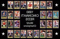 1990 cincinnati reds baseball card poster wall