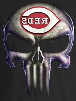 2 cincinnati reds punisher skull 5x3 8