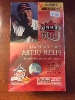 2007 Fleer Ultra Baseball Blaster Box 12 Packs Per Box 5 Car