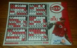2014 Cincinnati Reds Magnetic Schedule Car Magnet MAT LATOS