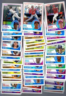 2018 TOPPS UPDATE SILVER PACK 1983 CHROME PROMO 35TH: COMPLE