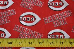 "30"" Long x 60"" Wide, Cincinnati Reds Cotton Quilt Fabric, ML"