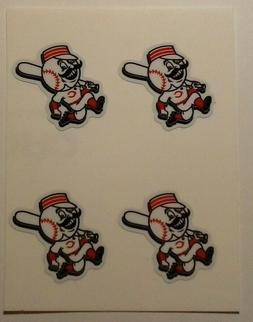 "CINCINNATI REDS mascot 1.25"" size DIY Stickers Decals Phone"
