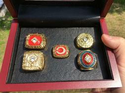 5PCS Cincinnati Reds World Series Championship Ring With Woo