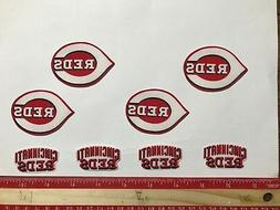 8 pc Cincinnati Reds MBL Fabric Applique Iron On Ons