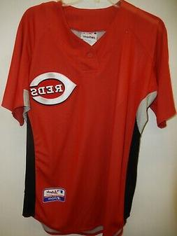 9601-4 Majestic Mens CINCINNATI REDS Authentic BP Baseball J