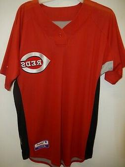 9601-4 Majestic Mens CINCINNATI REDS Authentic Team Issued B