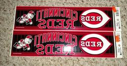 Authentic MLB Bumper Sticker Vintage Cincinnati Reds Wincraf
