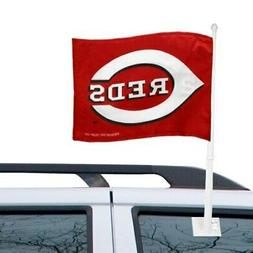 cincinnati reds 11 x 15 red car