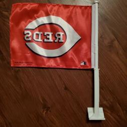 Cincinnati Reds 11X14 Window Mount 2-Sided Car Flag