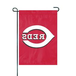 "Cincinnati Reds 18"" x 12 1/2"" Applique and Embroidered Garde"