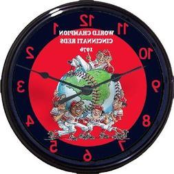 Cincinnati Reds 1976 World Series Wall Clock Pete Rose Big R