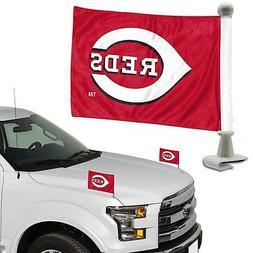 Cincinnati Reds 2-Pack Ambassador Style Auto Flag Car Banner