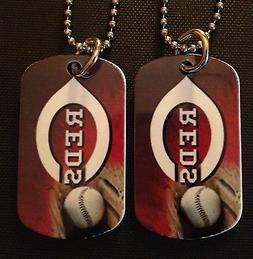 Cincinnati Reds 2-Sided Color Photo Dog Tag Necklace / Key c