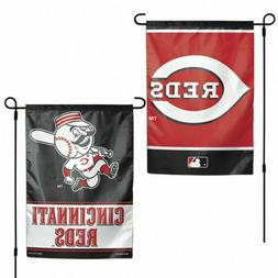 Cincinnati Reds 2 Sided Double Sided Garden Flag OUTDOOR RAT