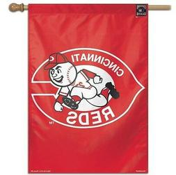 """CINCINNATI REDS 28""""X40"""" COOPERSTOWN COLLECTION HOUSE FLAG OR"""