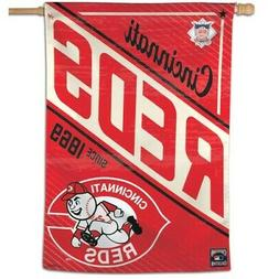 """CINCINNATI REDS 28""""X40"""" COOPERSTOWN HOUSE FLAG OR WALL BANNE"""