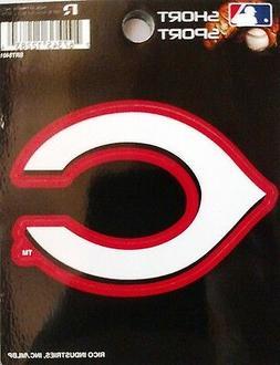 """Cincinnati Reds 3"""" Flat Vinyl Sport Die Cut Decal Bumper Sti"""