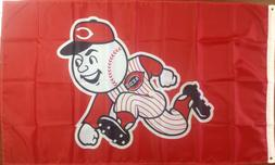 Cincinnati Reds 3'X5' Banner Flag Free Shipping From North C