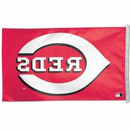 CINCINNATI REDS 3'X5' HOUSE FLAG WALL BANNER MLB LICENSED US