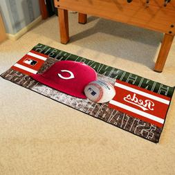 "Cincinnati Reds 30"" X 72"" Baseball Runner Area Rug Floor Mat"