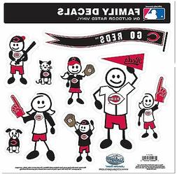 Cincinnati Reds 9 Piece Jumbo Family Decals  Auto Car Sticke