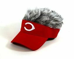 Cincinnati Reds Flair Hair Adjustable Visor, Red
