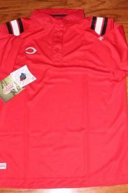 STITCHES CINCINNATI REDS ADULT MENS MLB POLO SHIRT RED SIZE