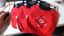 CINCINNATI REDS   Baby Bib 2 Pack Lot Of 3 MLB NWT 6 Total