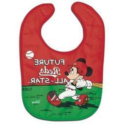 Cincinnati Reds Baby Bib Disney Mickey Mouse Feeding Infant