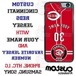 CINCINNATI REDS BASEBALL PERSONALIZED PHONE CASE FOR IPHONE