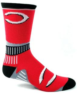 Cincinnati Reds Baseball Red Black Gray Crew Socks Striped C