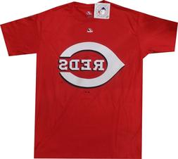 Cincinnati Reds Majestic Bigger Raised Logo T Shirt Closeout