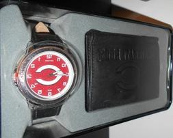 Cincinnati Reds Black Watch and Wallet Gift Set