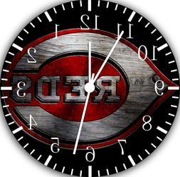 Cincinnati Reds Frameless Borderless Wall Clock Nice For Gif