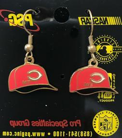 Cincinnati Reds  Cap Logo J Hook Dangle Earrings NEW