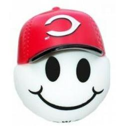 Cincinnati Reds Baseball Cap Head Car Antenna Ball / Desktop