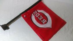 Cincinnati Reds Car Flag. Printed Both Sides.    MLB window