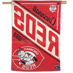 "CINCINNATI REDS COOPERSTOWN COLLECTION 28""X40"" BANNER FLAG N"