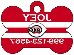 Cincinnati Reds Custom Pet Id Dog Tag Personalized w/ Name &
