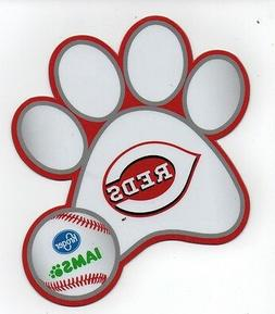 CINCINNATI REDS DOG PAW VEHICLE CAR MAGNET